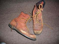 vintage Red Wings heavily distressed worn work  boots approx sz 11 good costume #RedWing #WorkSafety
