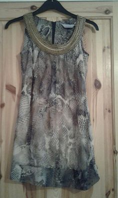bc7d8ecf0df3ad ladies sleeveless animal print party top size 8 dorothy Perkins #fashion  #clothing #shoes
