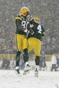 play in the snow at Lambeau Field!