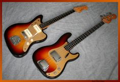 1959 #Fender #Jazzmaster with a 1959 Fender #Precision #Bass