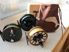 Fly Fishing Reel Pouch - Christmas 2010 Fishing Rod Storage, Fly Fishing Rods, Gifts For Husband, Gifts For Father, Saltwater Flies, Spinning Reels, Fishing Girls, Fishing Accessories, Red Fish
