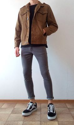 Vans old skool skinny jeans boys guys outfit vans love Young Fashion, Boy Fashion, Mens Fashion, Curvy Fashion, Fall Fashion, Style Fashion, Simple Outfits, Casual Outfits, Men Casual