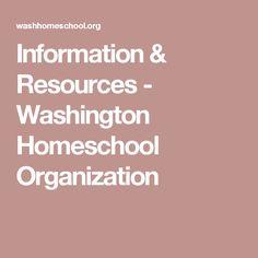 Information & Resources - Washington Homeschool Organization