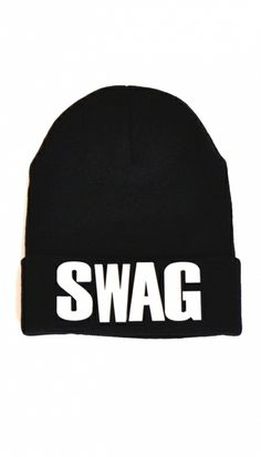 Black Swag Beanie Hat | OMG Fashion http://www.omgfashion.com/shop/black-swag-beanie-hat