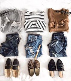 casual outfit flatlay.