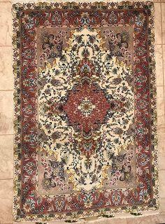 """Persian Tabriz Rug. 62X40"""""""