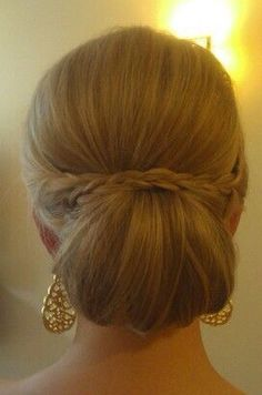 Lovely chignon with subtle braid
