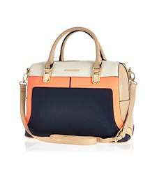 Navy colour block bowler bag £40.00