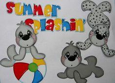 Paper Piecing Seals Summer Splashin' Set, Scrapbook Pages, Ocean, Beach