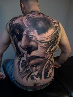 Full back portrait #tattoo