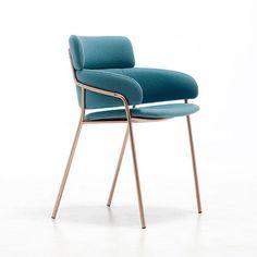 Moderner Stuhl / Polster / Armlehnen / aus Wolle STRIKE Debi