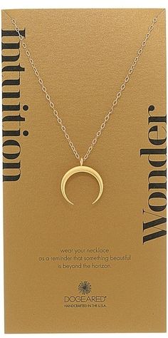 We love the Intuition/Wonder Crescent Moon Necklace by Dogeared to add a boho element to any Fashion Week look.