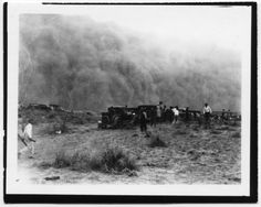 Dust storm west of Tyrone, Kansas - Page