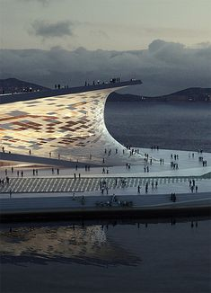 Winning Design for the New Busan Opera House Snøhetta. Busan (So. Korea) Opera House ☮k☮Snøhetta. Busan (So. Korea) Opera House ☮k☮ Futuristic Architecture, Beautiful Architecture, Contemporary Architecture, Landscape Architecture, Interior Architecture, Opera House Architecture, Contemporary Ballet, Interesting Buildings, Amazing Buildings