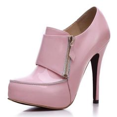 Bqueen Leather Short Boot Pink ... Love these with jeans!!