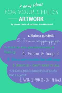 easy ideas for keeping your child's artwork