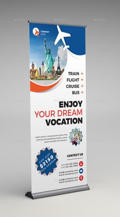Company banner, standing banner design, standee design, roll up design, pamphlet design Rollup Design, Rollup Banner Design, Graphic Design Flyer, Brochure Design, Flyer Design, Standing Banner Design, Company Banner, Travel Agency Logo, Standee Design