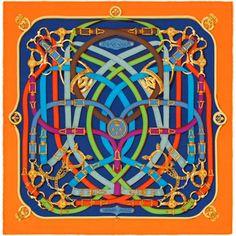 Cavalcadour, Gavroche 45x45 cm en twill de seda. Diseño: Henri d'Origny. ¡Juegue con su carré Hermès utilizando la aplicación! hermes.com/silkknots #Hermes #Silk #SilkKnots