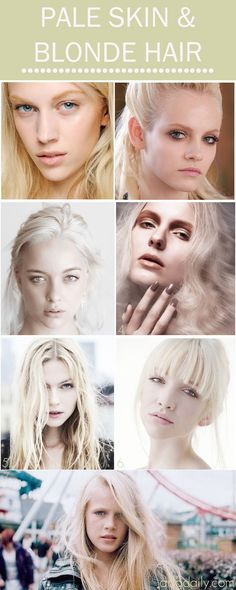 Pale Skin & Blonde Hair: A DDG Moodboard full of fair skin and platinum tresses - dropdeadgorgeousdaily.com