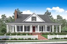 Plan 51748HZ: 3 Bed Country House Plan With Full Wraparound Porch