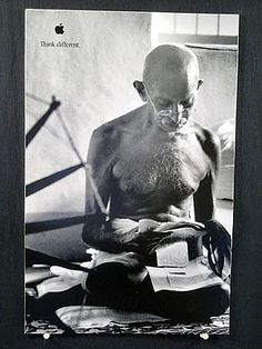 """Think Different"" Mahatma Gandhi"