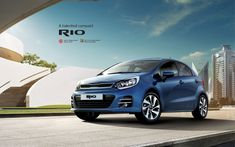 Blue Kia Rio 2017 Wallpaper HD