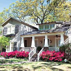 Craftsman style, love the porch and shutters/flower boxes