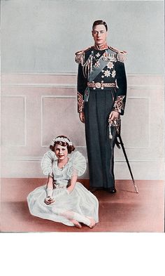"""King George VI posing for a portrait with his daughter, Princess Elizabeth, later Queen Elizabeth II. This is the royal whose story is told in """"The King's Speech"""" Reine Victoria, Queen Victoria, George Vi, British Royal Families, English Royal Family, Prinz Philip, Kings & Queens, Her Majesty The Queen, Queen Of England"""