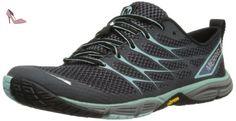 Merrell Road Glove Dash 3, Chaussures de running femme - Multicolore (Black/Eggshell Blue), 41 EU - Chaussures merrell (*Partner-Link)