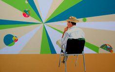 El pensador  Mixta sobre tela   81 x 130 cm.