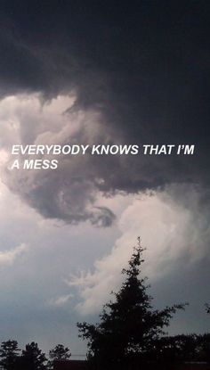everybody knows that i'm a mess Lana Del Rey Tumblr Quotes, Lyric Quotes, Mood Quotes, Life Quotes, Fille Gangsta, Emotion, The Words, Quote Aesthetic, Wallpaper Quotes