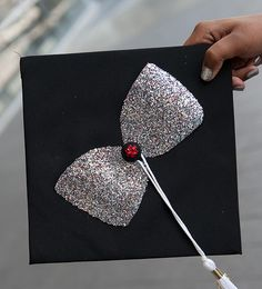 Bow on a graduation cap