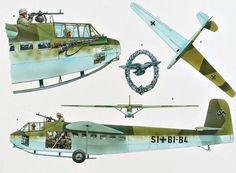 Armas-Planadores Militares - Segunda Guerra Mundial - DFS 230 glider, pin by…