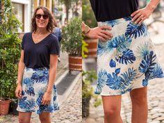 Fiore Rock nähen Portfolio, Tie Dye Skirt, Floral, Skirts, Pattern, Fashion, Skirt Sewing, Moda, Skirt