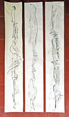 Tout s'évanoui (Desenho),  142x66 cm por Maria Antónia Santos grafite sobre papel