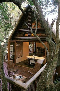 Now that's a treehouse! Awesome!