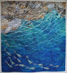 Lake Reflections by Melody Money.  Frontrange Art Quilters.