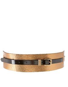 ASOS Leather Wide Metallic Colour Block Belt  £30.00