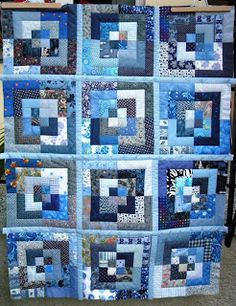 Erikas Scrap corner: The Top of the Quilt As You Go is done