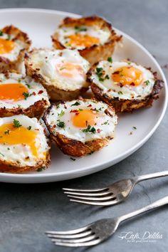 Cafe Delites | Hash Brown Egg Cups (Low Carb Gluten Free) | http://cafedelites.com