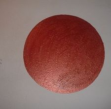 for ezzie's room - how to paint a circle on a wall.