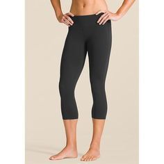 """Athleta Chaturanga™ Capri fit + features: Performance-fitted, Mid-rise and Tight leg Wide waistband streamlines your look, simple lines give you that long and leggy look. Internal key pocket, breathable CoolMax® crotch gusset, flatlock stitching minimizes chafe. """"I LOVE my Athleta gear. They are mostly branding themselves as yoga wear, but their tight black crop pants that I always wear stay perfectly in place for everything that we do at Strides."""""""