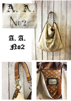ALLEGRA Historical BAG 2 Handmade old sac 1902 & Leather Shopping bag\tote di LaSellerieLimited su Etsy