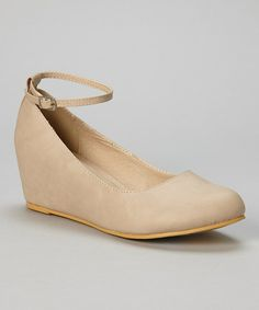 Nude Bobby Ankle Strap Wedge