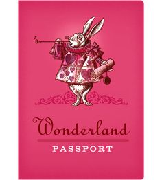 Wonderland Passport Notebook from The Unemployed Philosopher's Guild