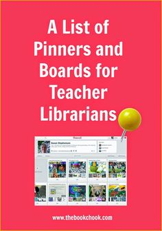 The Book Chook: A List of Pinners and Boards for Teacher Librarians