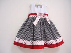 Vestido Infantil. Veste: 3/4 Cintura: 56 cm Comprimento(Ombro até a Barra)…