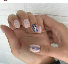 """If you're unfamiliar with nail trends and you hear the words """"coffin nails,"""" what comes to mind? It's not nails with coffins drawn on them. It's long nails with a square tip, and the look has. New Years Nail Designs, Nail Art Designs, Nails Design, Short Nail Designs, New Year's Nails, Hair And Nails, Nagellack Trends, Glitter Nail Art, Pink Glitter"""