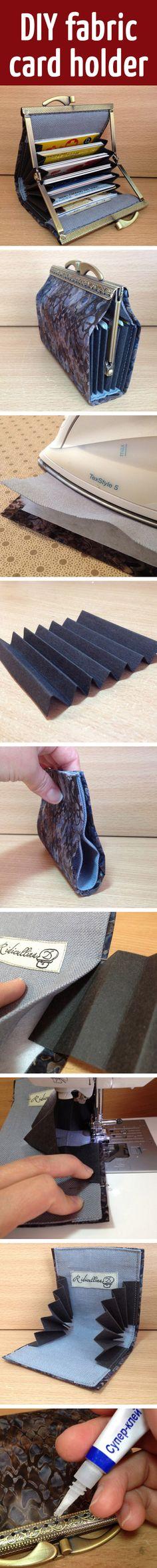 DIY fabric card holder
