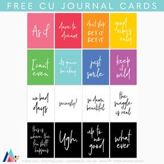 FREE printables for personal use by MissTiina Glam Planning, Project Life Cards, Photo Projects, Free Blog, Printable Paper, Journal Cards, Happy Planner, Digital Scrapbooking, Free Printables